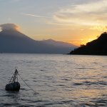 Sunset of Lake Atitlan from Hotel