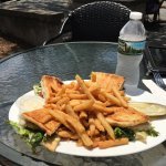 Chicken panini with fries