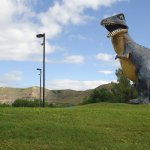 another dinosaur statue in the vicinity