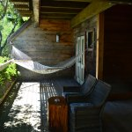 Beautiful private balcony with hammock