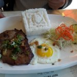 Grilled chicken chop & egg with rice