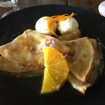 Crepe suzette with home made orange icecream