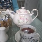 Afternoon tea - teapot and teacups.