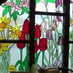 Window's in the cafe at Hayes Gartden World Ambleside