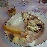 Pavillon Saint Martin-homemade tiramisu and cheese platter