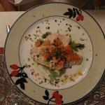 White fish salad, very delicious