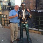 Me and the Bronze Fonz on the Riverwalk.