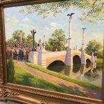 artwork of the local Butt Memorial Bridge . . .