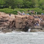 Thunder Hole as seen from an Acadia Nature Cruise, without much wind.