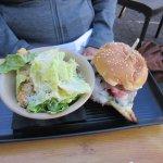 Chicken Burger & Salad