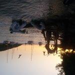der Ausklang beim Sonnenuntergang