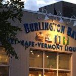 Sun setting on the Burlington Bay Cafe