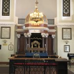 View of the bimah and arc.