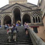 The front steps to the Duomo.