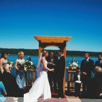 Summer Weddings are beautiful on our deck