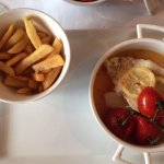 Cod dish with fries