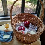 Picnic basket breakfast on the private porch
