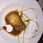 Hot Bread Pudding with Rasins