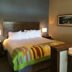 King size bed in Starfish Suite.