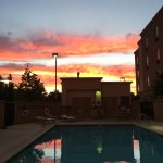 Awesome sunset by the pool
