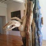 Alleluia 1983 Bois,racine d'acacia peint Etienne'martin