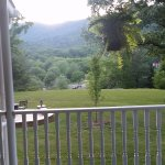 View of the Blue Ridge Mountains from the front porch.