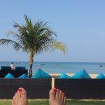 Vom Hotelstrand Richtung Meer