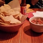 Chips and salsa and beans