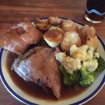 Lovely Sunday roast dinner Beef is to die for!