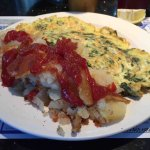 Spinach Omelet & Hash Browns
