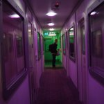 Corridor of cabins - you almost expect to be moving!