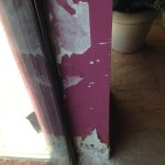 Crumbling wall from pool to patio