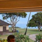 View of Poipu Beach Park from Brennecke's Beach Broiler