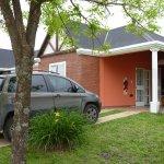 Cabañas con jardín, espacio techado para estar y asador
