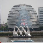 City Hall during the 2012 Olympics