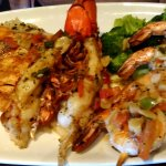 Broiled Sampler with grilled shrimp, lobster and salmon