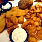 Fried Platter with flounder, shrimp, clams and scallops