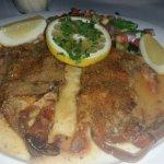 Soft shell crabs oreganata
