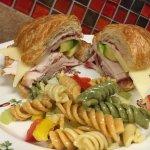 croissant sandwich - turkey, ham, chicken salad
