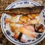 Whole Mackerel, Stuffed Crab, Sushi