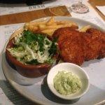 chicken schnitzel w/ aioli