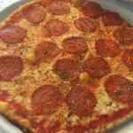 Spicy Salami Pizza w/ oregano