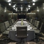 dining/meeting area in the vault