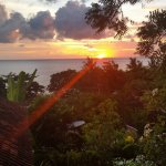 Sunrise from Sinar Bali bungalow room 2