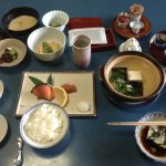 Traditional Japanese breakfast at Mifuku