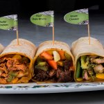 Take a Flavor trip with PEYALA's yummy wraps stuffed with loads of meats and your choice of side