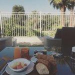 le petit déjeuner avec une vue relaxante