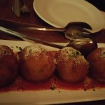 arancini with hot salami (specials board)