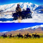 Explore the spectacular mountains of Cardrona on quad bikes or horses