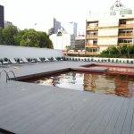 Piscina en terraza, junto al gimnasio.